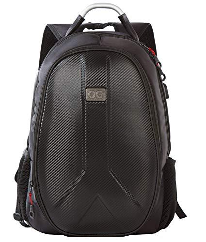 OG Online&Go Getaway Sac à Dos Moto étanche, Homme, Rigide, Grande capacité, Extensible 35L / 45L, Sac pour Casque de Motard, Sangle pour Casque, Anti-vol, réfléchissant, USB, Portable.