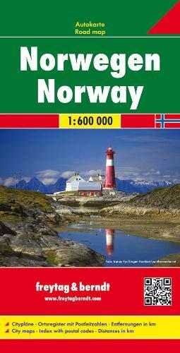Noruega, mapa de carreteras. 1:600.000. Freytag & Berndt.: Wegenkaart 1:600 000 (Auto karte)