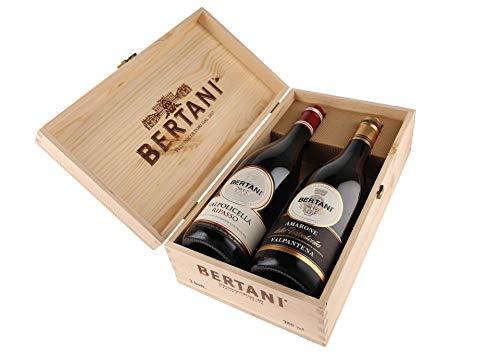 Cassetta da 2 bottiglie: Amarone Valpantena e Valpolicella Ripasso Bertani Bertani 0,75 L Cassetta di legno