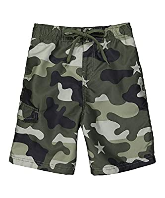 UPF 50+ Quick Dry Microfiber: Lightweight and durable for your most comfortable pair of boys swim trunks Side Seam Pockets and Cargo Pockets give plenty of options for storage Available in Mens Sizes S-XXL and Boys Sizes 2T through 20 so Dad's and Ki...
