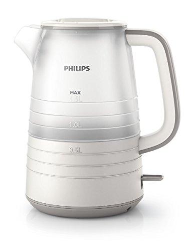 Philips Daily HD9334/20 - Hervidor de Agua, 2400 W, 1.5 Litros, Color Blanco