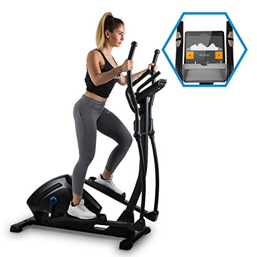 Capital Sports Helix Track - Cross-Trainer, Vélo elliptique, Bluetooth, Volant d'inertie 18 kg