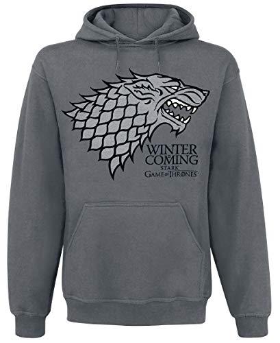 Game Of Thrones Winter is Coming Sudadera, Carbón, Medium para Hombre