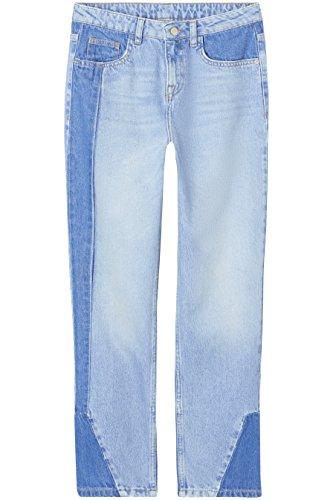 Amazon-Marke: find. Straight Cut Jeans Damen Patchwork und mittelhoher...