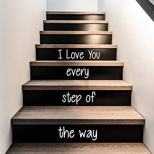 Vinyl Wall Art Decal - I Love You Every Step of The Way - from 4.1