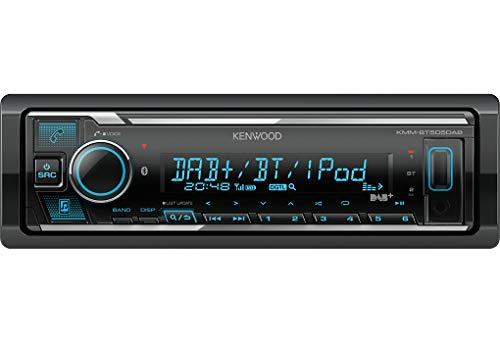 Kenwood KMM-BT505DAB USB-Autoradio mit DAB+ und Bluetooth Freisprecheinrichtung (Soundprozessor,...