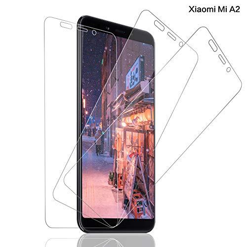 SNUNGPHIR, 3Pezzi, Vetro Temperato per Xiaomi Mi A2, Kit di Installazione Incluso, Durezza 9H, Pellicola Protettiva in Vetro Temperato per Xiaomi Mi A2, Bordi Arrotondati da 2.5D