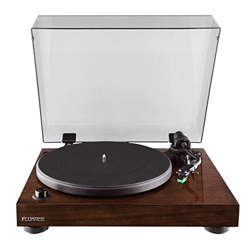 Fluance Elite High Fidelity Vinyl Turntable - Diamond Stylus, Belt Drive, Built-in Preamp with Ai40 5†Powered Bookshelf Speakers - 70W Class D Amplifier & aptX Bluetooth - Natural Walnut (RT81AI40B)
