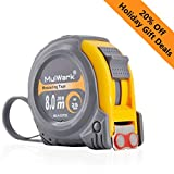 MulWark 26ft Measuring Tape Measure by Imperial Inch Metric Scale with Both-side Metal Blade,Magnetic Tip Hook and Shock Absorbent Case-for Construction,Contractor,Carpenter,Architect,Woodworking