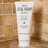 Dual-Shave (HiS) The 1st Truly Medicated Shave Cream 2in1 Anti-Acne Facial Wash & Moisturizer – Liquid Shaving Cream Superior to Foam or Paste - Nourish & Soothes Sensitive Skin – FDA Cleared