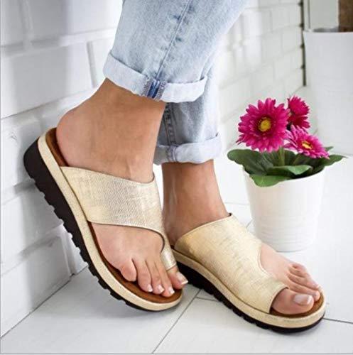 ypyrhh Zapatilla de Plataforma con cuña para Mujer,Cuñas,Sandalias,traviesas,traviesas-Amarillo_35,Zapatillas de Estar por Casa de Mujer/Hombre