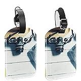 Yitian Holiday Vibe - Etiquetas de cuero para bolsas de viaje (2 unidades)