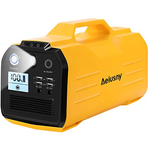 Aeiusny ポータブル電源 大容量(296Wh/85000mAh) AC(400W、瞬間最大出力800W)/DC/USB出力 家庭用蓄電池 純...