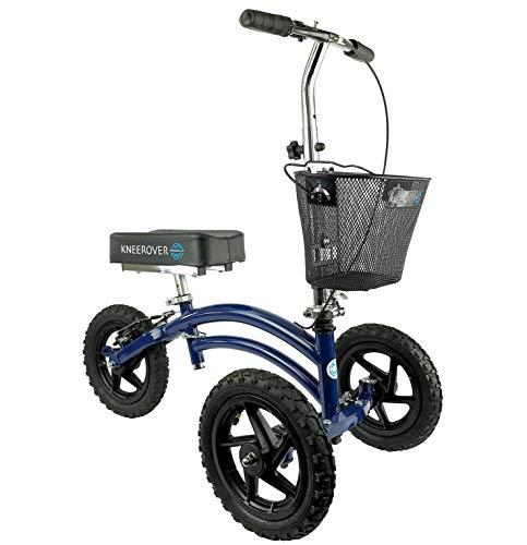 All Terrain KneeRover Steerable Knee Scooter Knee Walker Heavy Duty Crutches Alternative in Blue