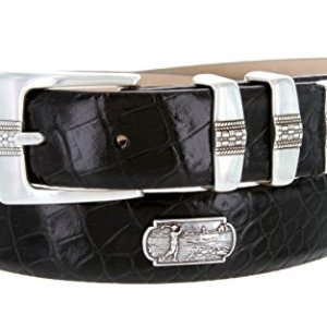 Scottsdale Golf – Men's Italian Calfskin Designer Dress Belt with Golf Conchos