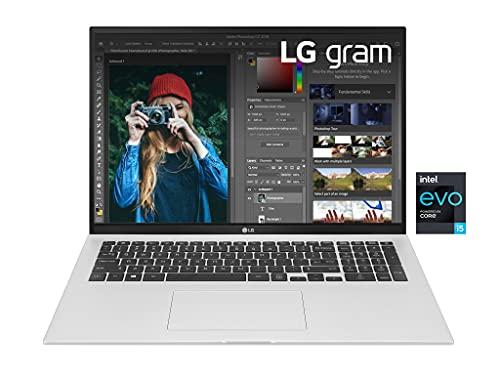 """LG Gram 17Z90P, Display 17"""" Quad HD 16:10 IPS, 2560x1600, Intel Core i5-1135G7, RAM 8GB DDR4, SSD 512GB, Intel Iris Xe, Batteria 80Wh, Thunderbolt4, Win10 Home, Tastiera Italiana, Peso 1350g, Silver"""