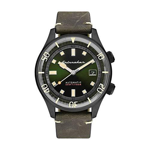 SPINNAKER Bradner Herren-Armbanduhr 42mm Armband Leder Automatik SP-5062-04