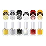 Born Pretty 6 Bottles 6ml Stamping Polish Nail Art Varnish Nail Plate...