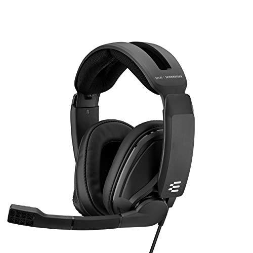 Sennheiser GSP 302 Casque Gaming avec Micro à Réduction de Bruit et Fonction Flip to Mute, Coussinets à Mémoire de Forme, pour PS4, Xbox One, PC, Mac, Nintendo Switch et Smartphones Noir