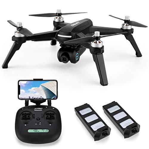 INKPOT JJRC JJPRO X5 WiFi Drone GPS con videocamera HD Video Live e GPS Ritorno a casa Quadricottero con Motore brushless e videocamera Regolabile a 90 , Seguimi, Distanza di Controllo Lunga (Nero)