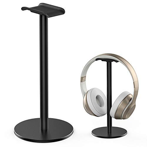 Kopfhörer-Ständer Headset-Halterung aus Vollaluminiumlegierung New Bee Stabiler Metallständer mit rutschfestem Silikon für Gaming-Headset für alle Kopfhörergrößen (schwarz)
