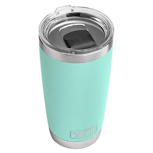 YETI Rambler 20 oz Tumbler, Stainless Steel, Vacuum Insulated with MagSlider Lid, Seafoam