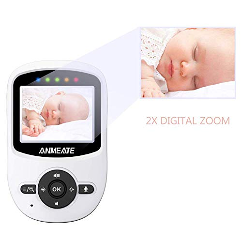 Video-Baby-Monitor-with-Digital-Camera-ANMEATE-Digital-24Ghz-Wireless-Video-Monitor-with-Temperature-Monitor-960ft-Transmission-Range-2-Way-Talk-Night-Vision-High-Capacity-Battery-White