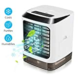 Portable Air Conditioner Fan, 3 in 1 Mini Personal Air Conditioner, Mini Desktop Cooling Fan, Personal Air Cooler Table Fan for Home Bedroom Office Without Remote Control