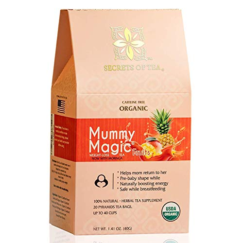 Mummy Magic Weight Loss Tea - Fruit Tea with 40 Servings - Energy Tea Naturally Increase Digestion.Postpartum Tea for Metabolism & Digestion. 1