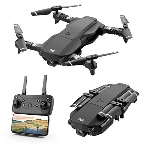 Drone FPV Pieghevole con Videocamera 4K per Adulti, 5G WiFi FPV Drone Live Video per Principianti, Commutazione Doppio Colpo | Controllo del Telefono | Foto Gestuale | Visione VR