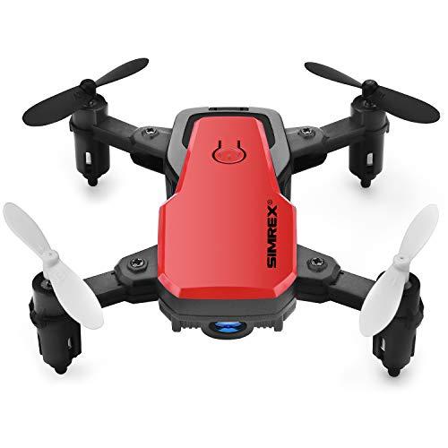 SIMREX X300C Mini Drone con Fotocamera WiFi HD FPV Pieghevole Quadricottero RC Rtf 4CH 2,4 GHz...