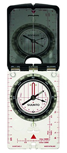 Suunto MC-2 Mirror Compass Brújula, Spiegel-und Peilkompass MC-2/360/D/L CM/IN NH, Black, Blanco, Talla Única