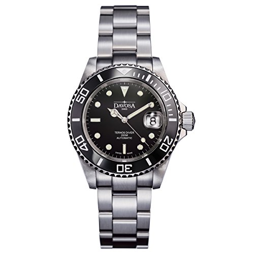 Davosa Herren-Armbanduhr Ternos Diver Analog Automatik Edelstahl 16155550