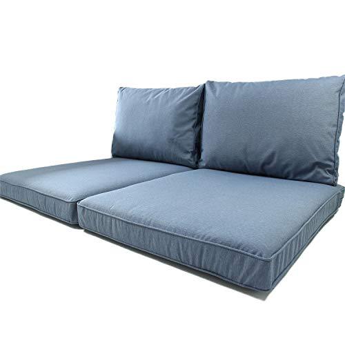 Cuscini per Pallet da Esterno Nordje Comfort Duo con FO-dera Impermeabile, composti da Cuscino...