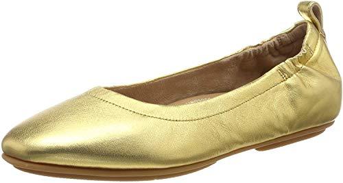 FitFlop Allegro, Bailarinas con Punta Cerrada Mujer, Dorado (Artisan Gold 667), 39 EU