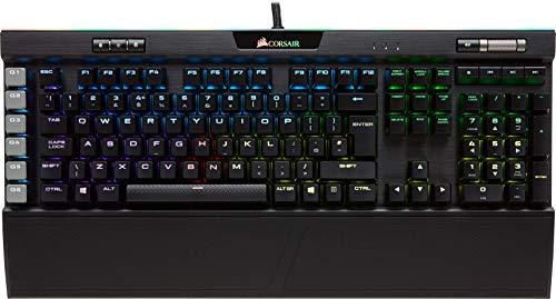 Corsair K95 RGB Platinum Teclado Mecánico Gaming, Cherry MX Brown, Táctil y Silencioso, Retroiluminación Multicolor LED RGB, Estructura de Aluminio Anodizado, QWERTY Español, color Negro