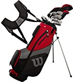 Wilson Golf Profile SGI Men's Complete Golf Set — Long, Right Hand,Red (Long)