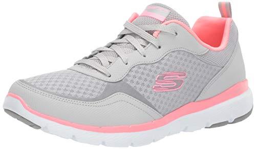 Skechers Flex Appeal 3.0-go Forward, Zapatillas Mujer, Gris,