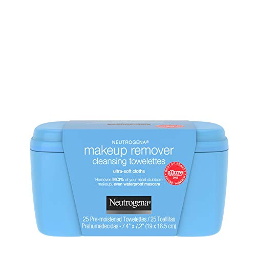 Neutrogena Makeup Remover Facial Cleansing Towelettes, Daily Face Wipes to Remove Dirt, Oil, Makeup & Waterproof Mascara, Gentle, Alcohol-Free, 25 ct 1