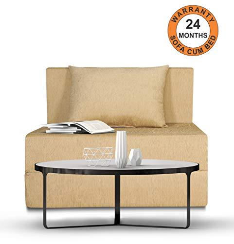 Adorn India Easy Single Seater Sofa Cum Bed Alyn 3'x 6' (Beige)