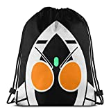 Yuanmeiju Drawstring Bag Sport Gym Sack Party Favor Bags Wrapping Gift Bag Mochila con cordóns Storage Goodie Bags Cinch Bag Kamen Rider Fourze Logo