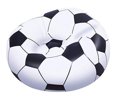 Bestway 75010 | Poltrona Pouf Gonfiabile Pallone da Calcio, 114x112x71 Cm