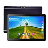 Tablet PC, Veidoo 10.1' Inch Tablet, HD Screen, IPS Display, Dual Camera, Android 6.0, WiFi/GPS/OTG, 3G Phablet with Dual Sim Card Slots, 1GB Memory, 16GB Storage, Ideal Gifts (Black)
