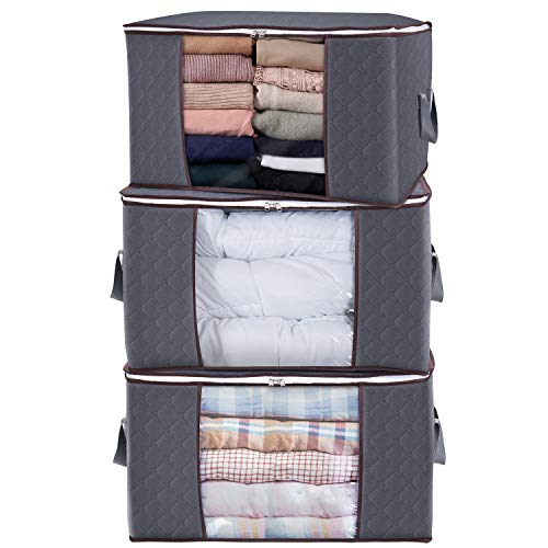Lifewit Large Capacity Clothes Storage Bag Organizer with...