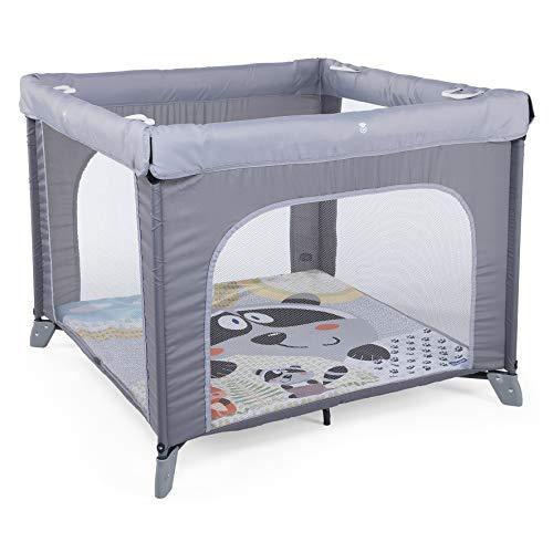 Chicco Open Box - Parque de juegos infantil con alfombra extraíble, 0-4 años, color gris (Honey Bear)