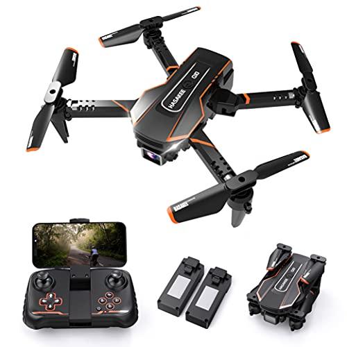 Q10 Mini Drone avec Camera 720P HD WIFI FPV Télécommande,Pliable Drone Enfant avec Maintien de l'altitude,360°Flips,Contrôle Gestuel,Vol de Trajectoire,Induction de Gravité,Facile à Piloter