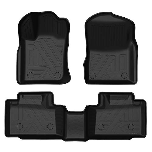 Aiqiying Grand Cherokee Floor Mats for 2016-2020 Jeep Grand Cherokee All Weather tech Heavy Duty Odorless Black Front and Rear 2 Row 3 Piece Liners Full Set Custom Fit