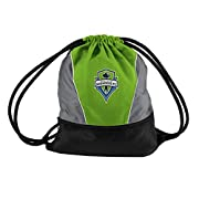 Zipper front storage pocket Mesh back for comfort Screen-printed logo with team color Pocket on front of bag Strong string Lots of storage space Very comfortable mesh backing