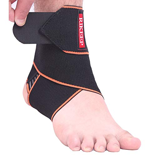 Ankle Support,Adjustable Ankle Brace Breathable Nylon Material Super Elastic and Comfortable,1 Size Fits all, Protects Against Chronic Ankle Strain, Sprains Fatigue (orange 1)