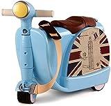 Bcaer Caja de la Carretilla Juguete de los niños con el contenedor de Juguete Maleta Puede Viajar 3-6 años de Edad plástico ABS con el Medio Ambiente de los niños,Blue